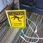 Tripping Hazard Sign