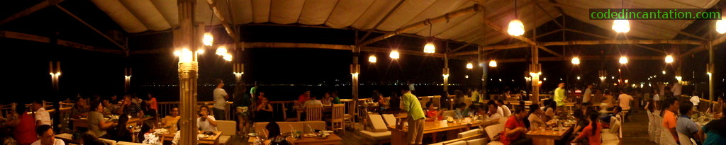 Panoramic view of Lantaw Floating Restaurant