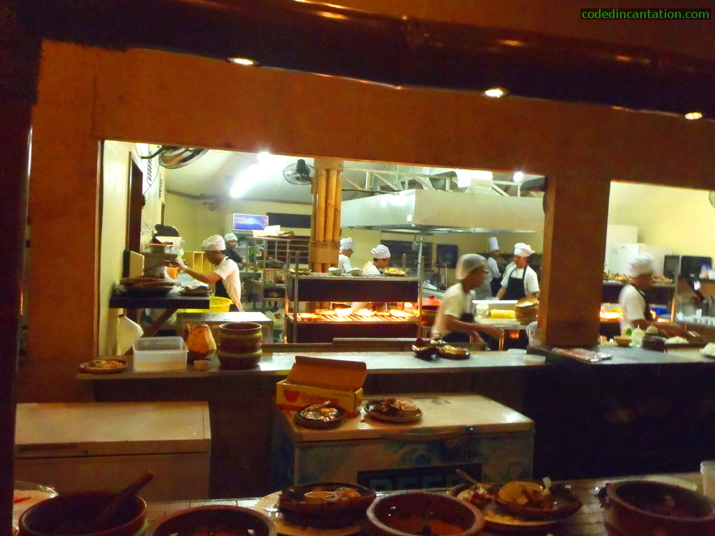 Kitchen and Chefs @ Lantaw, floating restaurant