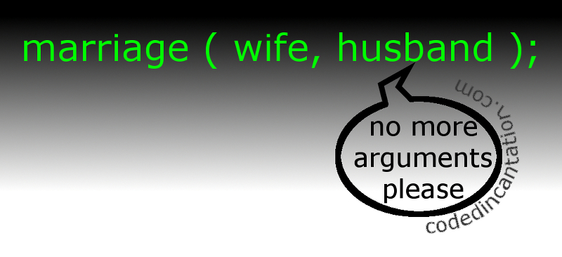 Husband and Wife should code it this way: