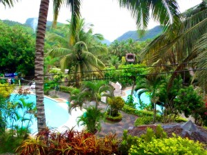 View from our room. Hidden Paradise Mountain Resort.