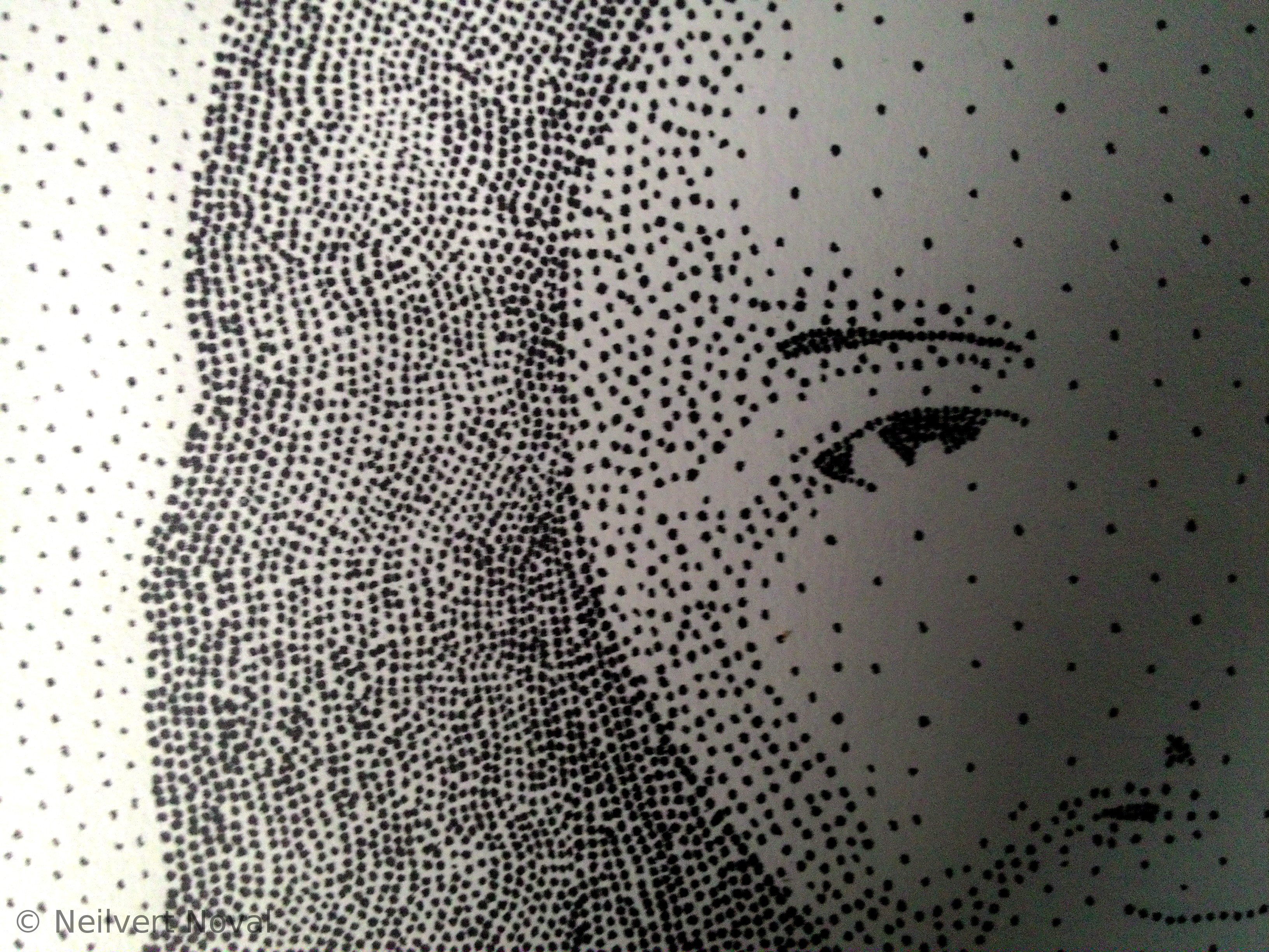 Several Dots Formed Into Jesus Christ Portrait 2