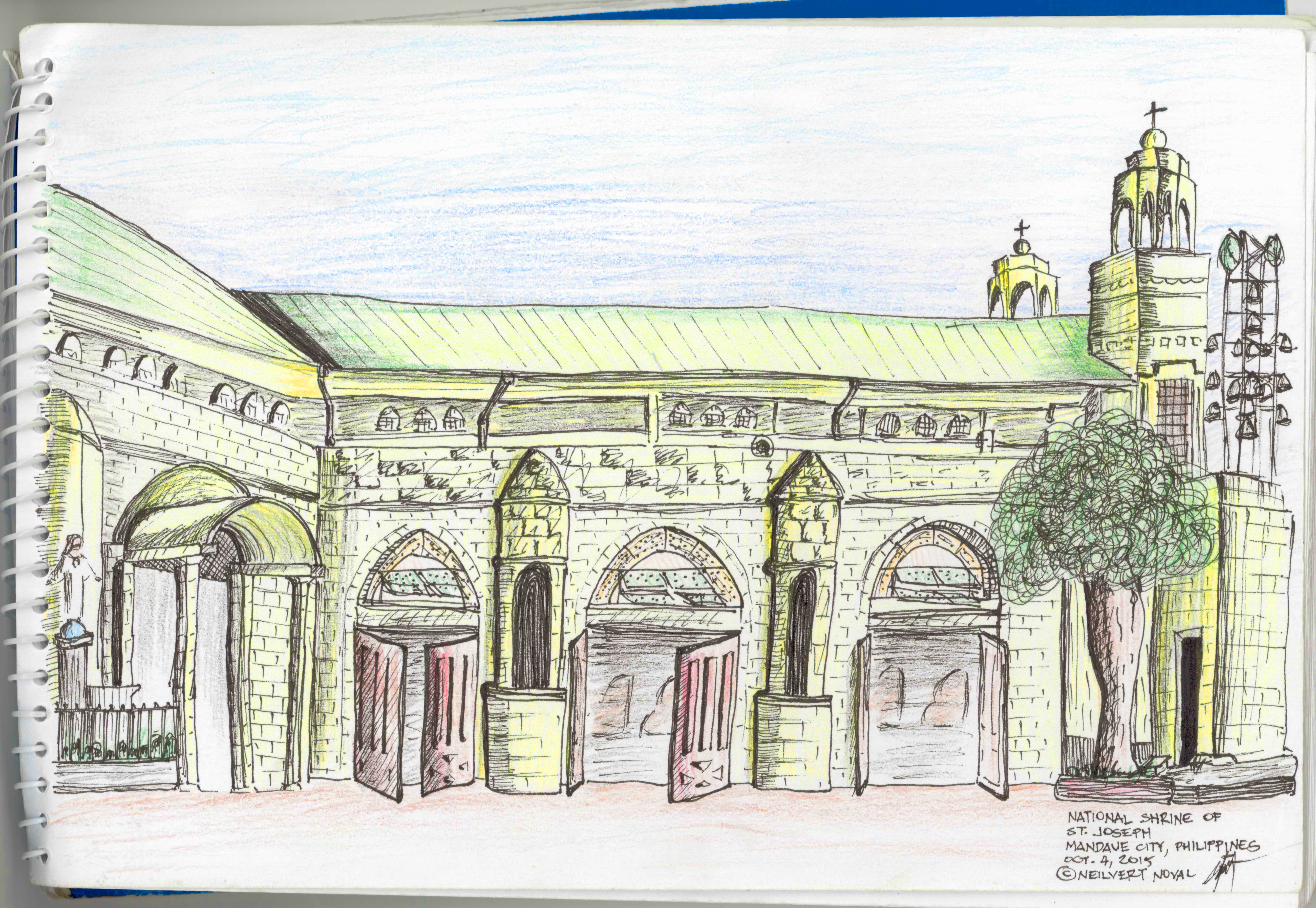 National Shrine of St.Joseph Rough Sketch