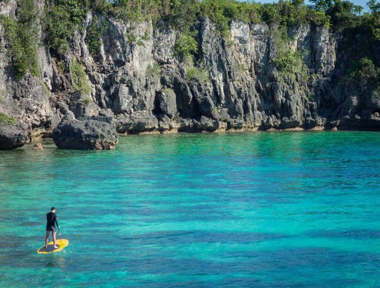 Stand up paddle board. Cebu's Funtastic Island.