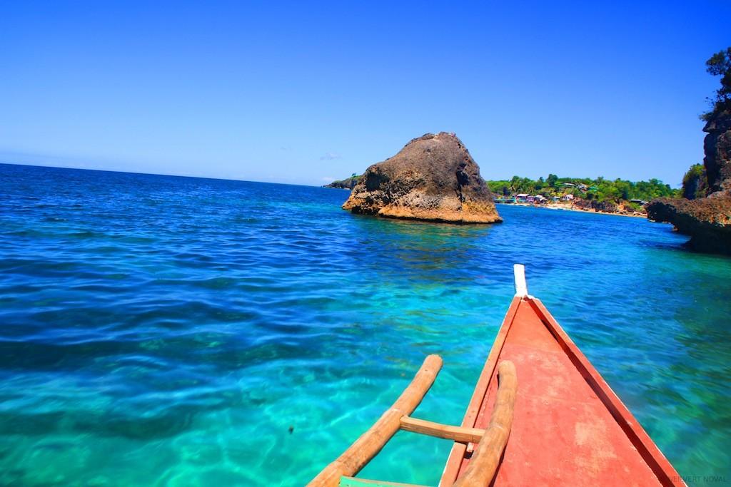 Bangka ride. Cebu's Funtastic Island.