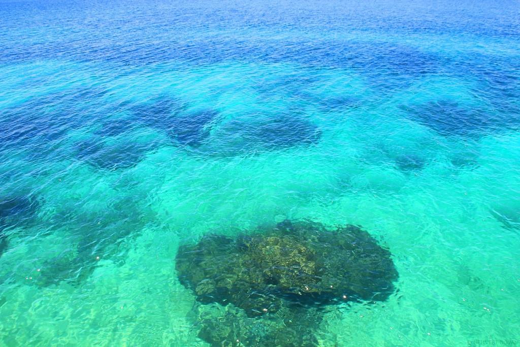 Clear waters. Cebu's Funtastic Island.