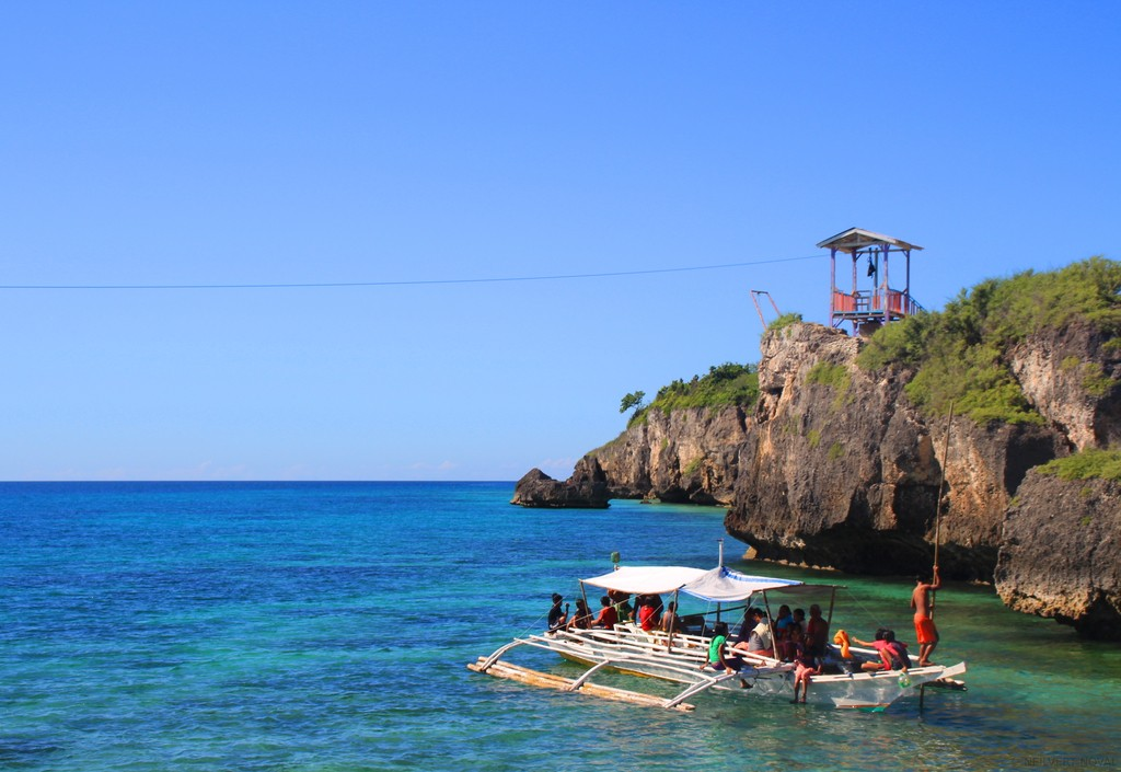 Zip line. Cebu's Funtastic Island.