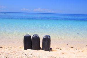 Water. Kalaggaman Island