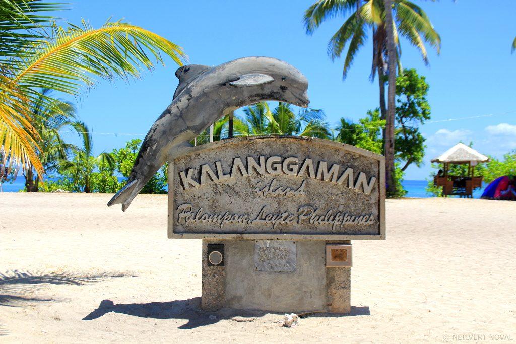 Stone label. Kalanggaman Island