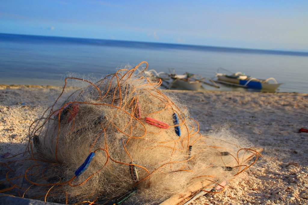 Fishing net. Kalaggaman Island.