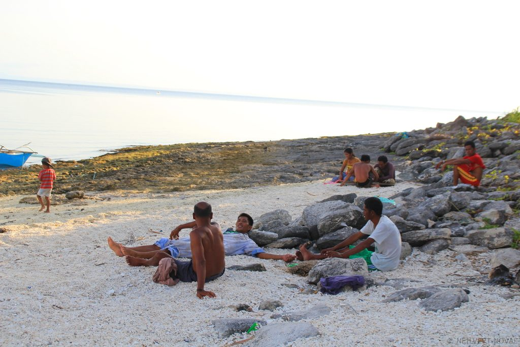 Fishermen. Kalaggaman Island
