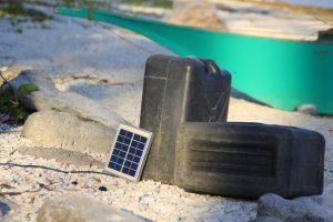 Solar panel. Kalaggaman Island.