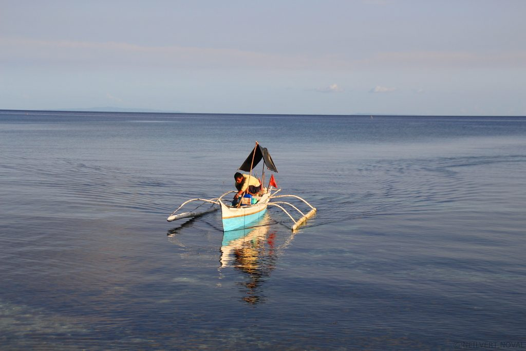 Fisherman. Kalaggaman Island.