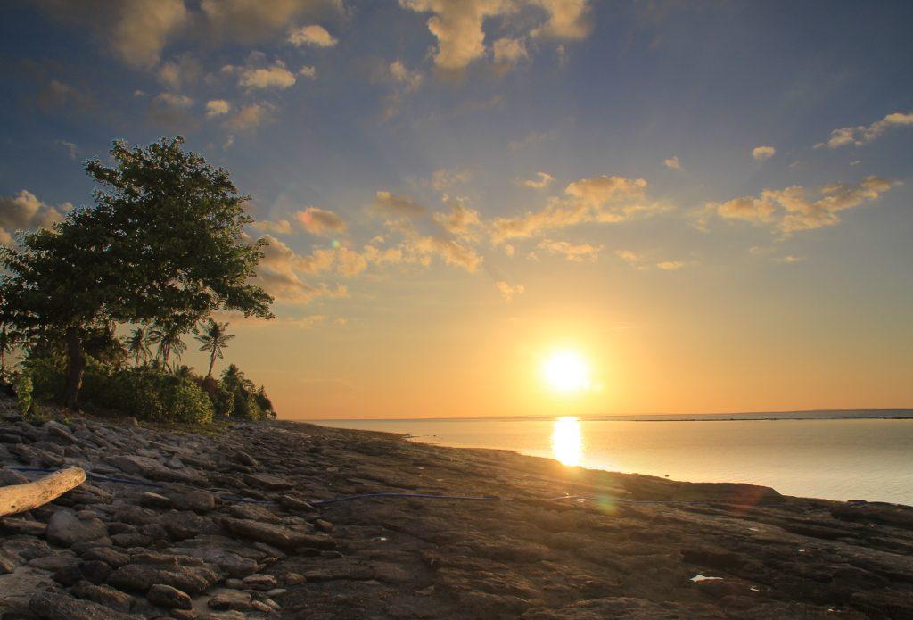 Sunset. Kalaggaman Island.