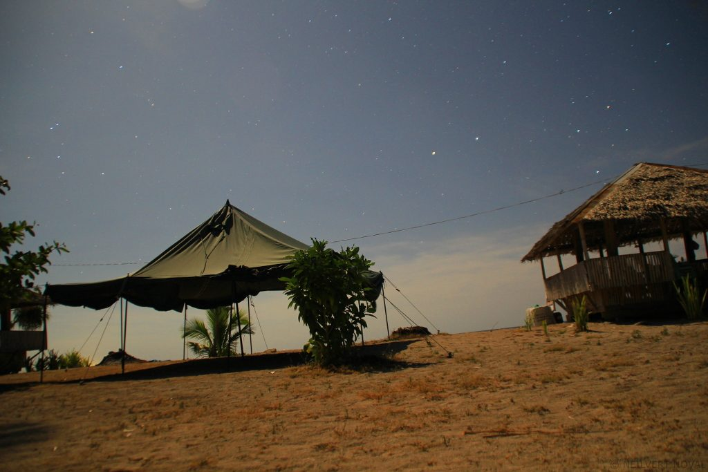 Night time. Kalaggaman Island.